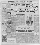 Portland Daily Press: April 22, 1898