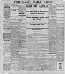 Portland Daily Press: May 18, 1898