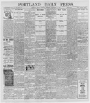 Portland Daily Press: September 8, 1898