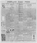 Portland Daily Press: September 27, 1898