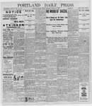 Portland Daily Press: October 7, 1898