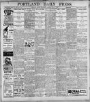 Portland Daily Press: May3, 1899