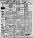 Portland Daily Press: May8, 1899