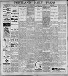 Portland Daily Press: May19, 1899