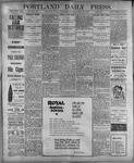 Portland Daily Press: July 26, 1899