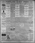 Portland Daily Press: September 25, 1899