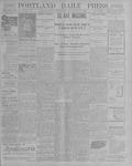 Portland Daily Press: October 30, 1900