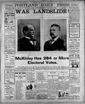 Portland Daily Press: November 7, 1900