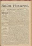 Phillips Phonograph : Vol. 3, No. 20 January 22,1881 by Phillips Phonograph Newspaper
