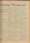 Phillips Phonograph : Vol. 3, No. 36 May 14,1881 by Phillips Phonograph Newspaper