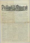 Phillips Phonograph : Vol. 5, No. 1 September 08,1882 by Phillips Phonograph Newspaper