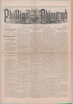 Phillips Phonograph : Vol. 5, No. 8 October 27,1882 by Phillips Phonograph Newspaper