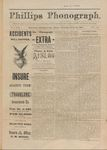 Phillips Phonograph : Vol. 3, No. 46 - July 19,1881 (Extra) by Phillips Phonograph Newspaper