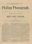 Supplement to Phillips Phonograph- Her Last Throw by Phillips Phonograph Newspaper