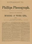 Supplement to Phillips Phonograph- Missing- A Young Girl by Phillips Phonograph Newspaper