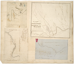 Page 33. Plan of Gore No. 4 in River Township No. 2 east side Penobscot River; A plan of the surveys in the south half of Township No. 15 Range 11; Plan of the Indian Township in Washington County; Plan of the survey of a lot of land in the southeast corner of Township No. 17 Range 5 and on the east side of Cross Lake. by John Webber, J. L. Kelsey, and William D. Dana