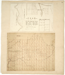 Page 34.  Plan of lots in Township 4 Range 4 and 5, Township 10 Range 5, and Township 13 Range 6;  Plan of Amity area, 1861.