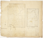 Page 41.  Survey of Township 7 Range 2 north of the Lottery Lands;  A Plan of Township Letter H in the 2nd Range