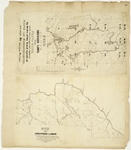 Page 42.  Plan of that part of the Undivided Lands in the State of Maine, which was surveyed and explored by Order of the Land Agents of Maine and Massachusetts A.D. 1847;  Map of Part of the Undivided Lands, viz. Townships number seventeen and eighteen in the third, fourth, fifth, sixth, and seventh ranges, and G in the first range, L and M in the second range west from the east line of the State.