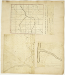 Page 44.  Plan of Township No. 11 Range 6 from the East Line of the State, 1839;  A Plan of Township No. 1 Indian Purchase, 1834; A Plan of Section 133 in Township No. 1 Indian Purchase as Surveyed A.D. 1834.
