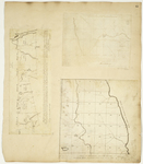 Page 45.  Plan of Township No. 4, 15th [13th] Range; Plan of half Township Letter E in the second range of Townships West from the East line of the State;  Plan of Townships Numbered Four in the 13-18th Ranges of Townships from the East Line of the State of Maine