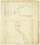 Page 46.  Plan of the South half of Township No. 1, Titcomb's Survey, Belonging to the 2nd Range of Townships N. of Bingham's Penobscot Purchase, 1832;  Plan of Township No. 4 in the 1st Range North of Bingham's Penobscot Purchase, 1832