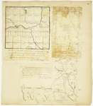 Page 47a.  Plan of Township 9 in the 6th Range of Townships west from the East line of the State;  Plan of the west half of number three in the eighth range north of the Waldo patent containing 12,384 acres; Plan of thirteen townships of land the joint property of the Commonwealth of Massachusetts & State of Maine