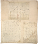 Page 48.  Plan of Township No. 1, 13th Range WELS, 1842;  Plan of the north half of  Township 3 in the 6th Range West from the East line of the State, 1832;  Survey of a gore in Washington County