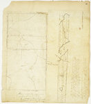 Page 50.  Plan of the lotting of the parts of townships numbered one and two Range one North of Bingham's Kennebec Purchase, 1829; Plan of Township 1 Range 2 WBKP, 1833