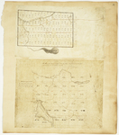 Page 51.  Plan of the lotting of Township No. 8 in the 7th Range into sections of one mile square in the year 1832;  Plan of Township Letter H in the Second Range, 1839