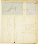Page 02. Plan of Hopkins Academy Grant, 1846; A Sketch of Township 3 in Range 4 NBKP; Plan of Township 2 Range 2 NBKP (Brassua) by Hiram Rockwood