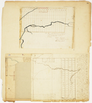 Page 10.  Plan of the Sandwich Academy tract;  Plan of Township 2 Range 2 BKP WKR;  Plan of Township 3 Range 3 BKP WKR (Dead River);  Plan of Public Lot, Highland Plantation