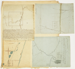Page 13.  Plan of the north west quarter of Township 5 Range 7 WELS;  Plan of Township 2 Range 6 WELS; Plan of Township 7 Range 4 NBPP;  Plan of Township 1 Range 4 BKP WKP