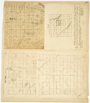 Page 25.  Plan of Township 2 Indian Purchase;  Plan of Township 4 Range 8 WELS;  Plan of Township 8 Range 5 WELS;  Plan of Township 1 Range 3 WELS
