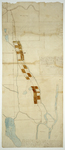 Page 42. A Plan of the Road leading from the Town of Orono to the Piscataquis River by Park Holland