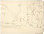 Page 07. Plan of No. 3 R. 3 WKR county of Somerset. Also plan of the public land as set off in the said No. 3 October A.D. 1849 by the subscribers they having had that duty assigned to them by the District Court at the May Term A.D. 1849. by Harris Garcelon and Jonathan Stevens Jr.