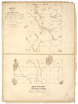 Page 35.  Map of Part of the Undivided Lands;  Map of Half Township B, Range 1 WELS