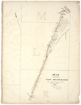 Page 42.  Plan of part of the East Aroostook Road (the alteration from the 20th mile to Violets Mill), 1844.