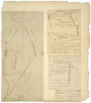 Page 04. Plan of Township 1; Plan of Sandy River, Lincoln County, 1790; Plan of Prout's Grant near Saco River, 1809 by Samuel Titcomb, Jedediah Prescott Jr., and Lothrop Lewis