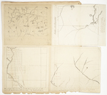 Page 04. Series of four maps of Township 11 Range 5, Township 7 Range 15 WELS, Township 1 Range 6 WBKP, and Townships 5-8 Ranges 14-16 by Noah Barker, William Dwelley, and N.B. K. Lowell