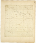 Page 12.  Plan of Township Number 6 in the 9th Range of townships west of the east line of the State as surveyed in September, October, and November A.D. 1834.