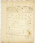 Page 16.  A Plan of Township Number 12 in the 3rd Range of Townships west from the East line of the State as surveyed by the subscribers into Lots in the months of August, September, and October A.D. 1843.