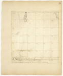 Page 18.  A Plan of Township Number 7 in the 6th Range west from the east line of the State as surveyed in August A.D. 1832