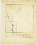 Page 19.  Plan of Township Number 13 in the 4th Range West from the East line of the State as surveyed in A.D. 1839