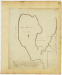 Page 38.  This Plan represents the Survey of a Bluff of Land situate in River Township numbered one; principally surrounded by the water of Cold Stream Pond, surveyed in March A.D. 1831 pursuant to direction from Daniel Rose, Land Agent.