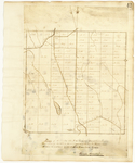 Page 42.  Plan of Township Letter F in the second Range West from the East line of the State as surveyed and lotted in A.D. 1839.