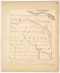 Page 50.  Plan of Township 13 in the 3rd Range of townships west from the east line of the State as surveyed by the subscribers into Lots in the months August, September, and October A.D. 1843.