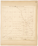 Page 51.  A Plan of Township Letter E Range 1 WELS as surveyed by the subscriber in the summer of A.D. 1847.