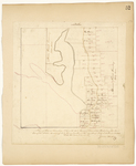 Page 52.  Plan of Lots in Township 13 in the 6th Range of townships west from the east line of the State, as surveyed by the subscriber in the months of May and June 1844.