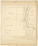 Page 56.  Plan of Lots in Township 16 in the 7th Range of townships West from the East line of the State, as surveyed by the subscriber in June A.D. 1844.